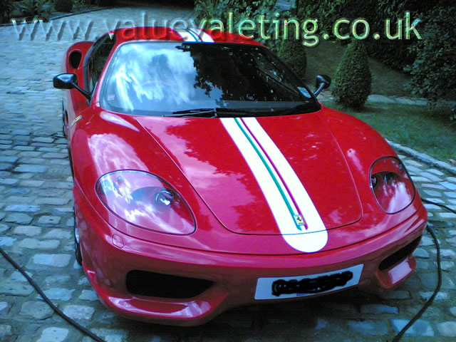 Car valeting ferrari